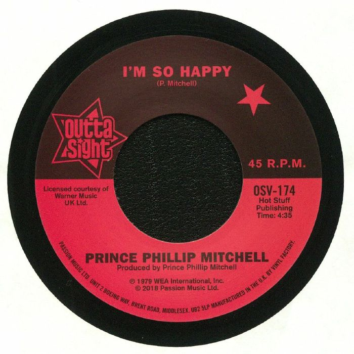PRINCE PHILLIP MITCHEL/LOU RAGLAND - I'm So Happy