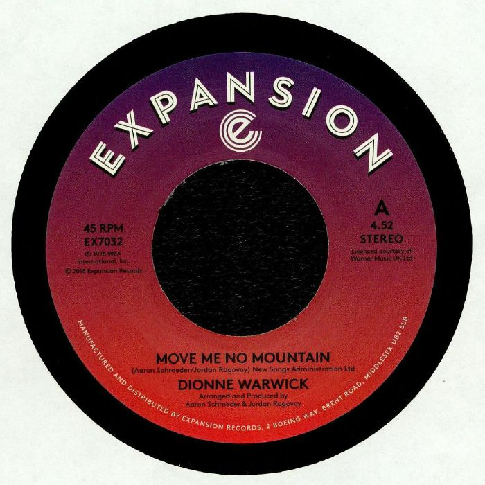 WARWICK, Dionne - Move Me No Mountain