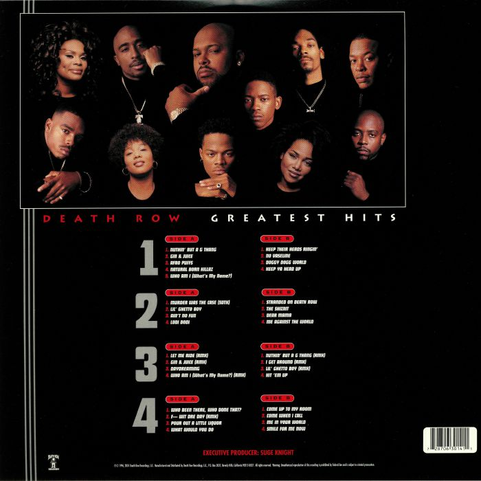 VARIOUS - Death Row's Greatest Hits (remastered)