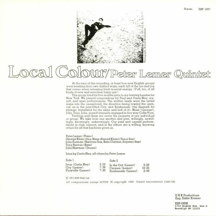 PETER LEMER QUINTET - Local Colour