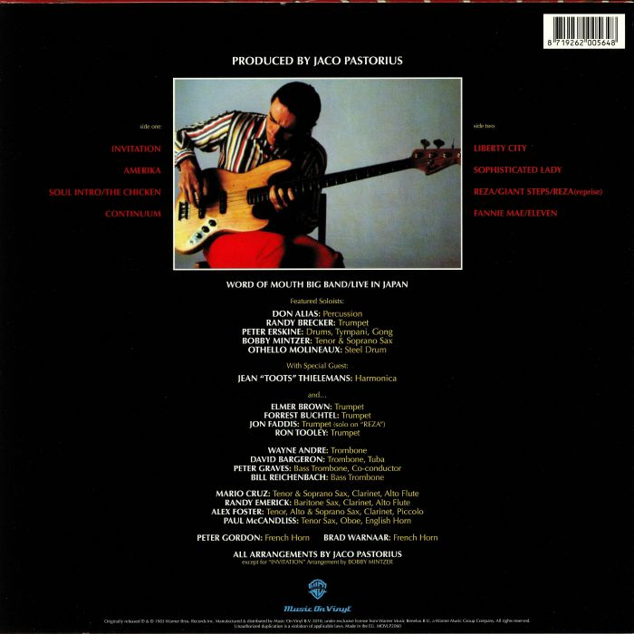 Jaco pastorius invitation reissue vinyl at juno records pastorius jaco invitation reissue stopboris Gallery