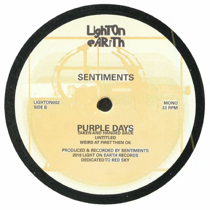 SENTIMENTS - Purple Days