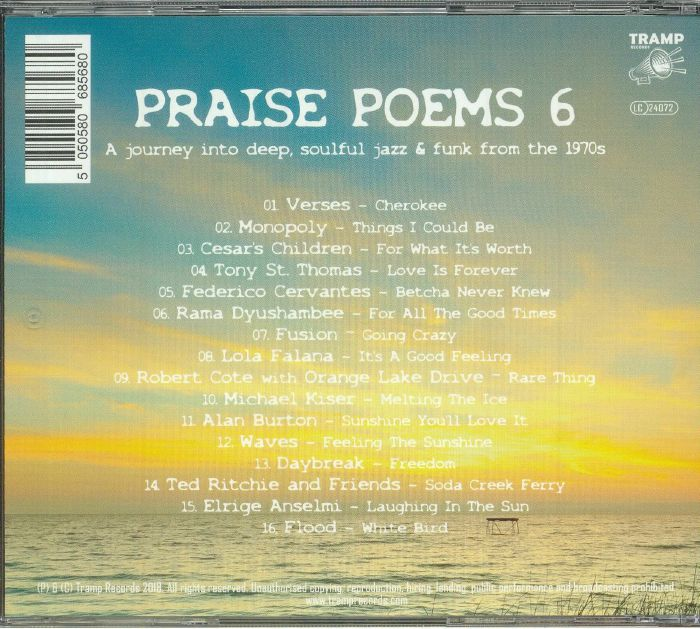 VARIOUS - Praise Poems 6: A Journey Into Deep Soulful Jazz & Funk From The 1970s