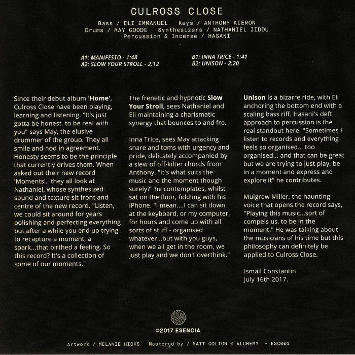 CULROSS CLOSE - Moments