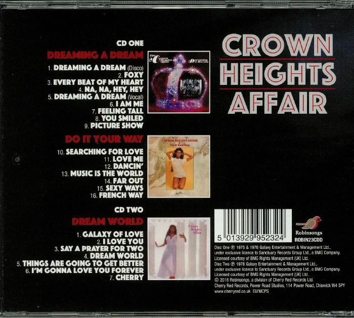 CROWN HEIGHTS AFFAIR - Dreaming A Dream/Do It Your Way/Dream World
