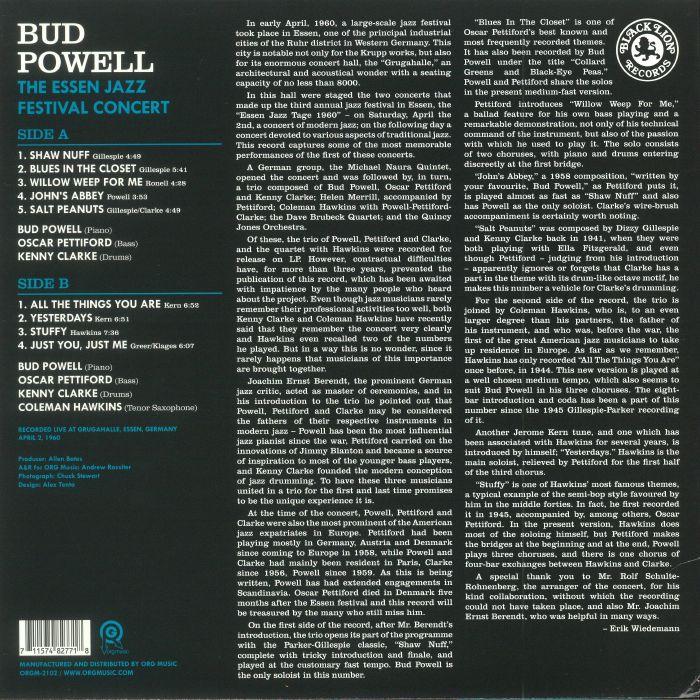 POWELL, Bud - The Essen Jazz Festival Concert