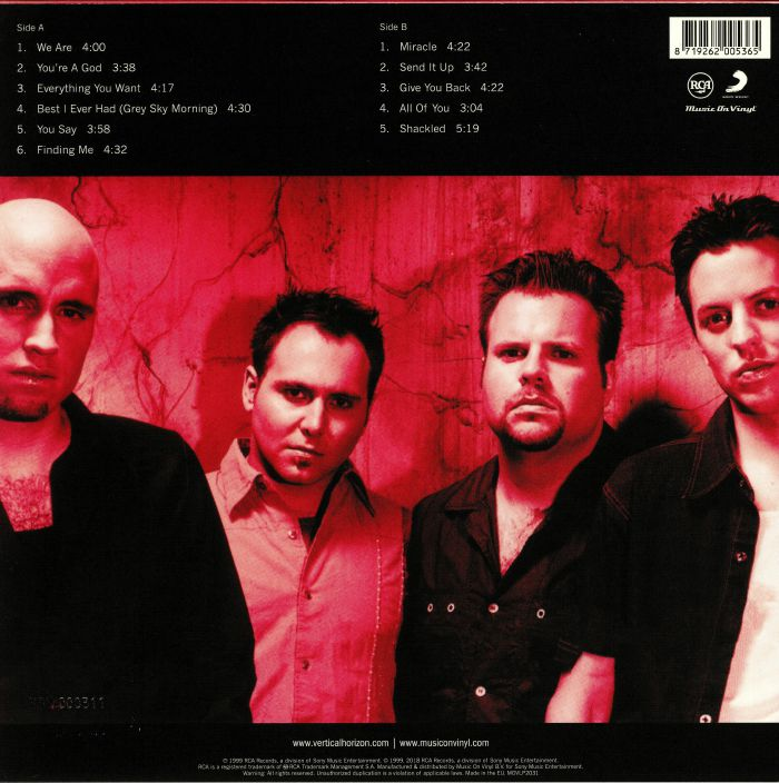 VERTICAL HORIZON - Everything You Want (reissue)