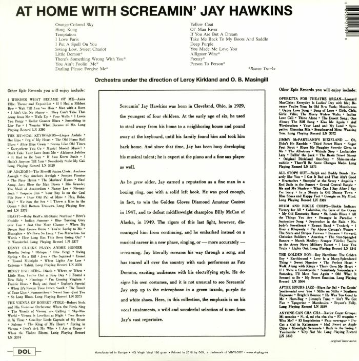 SCREAMIN' JAY HAWKINS - At Home With Screamin' Jay Hawkins: Deluxe Edition