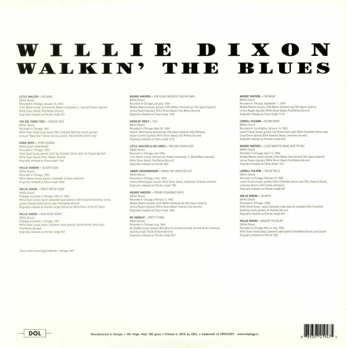 DIXON, Willie - Walkin' The Blues: Deluxe Edition