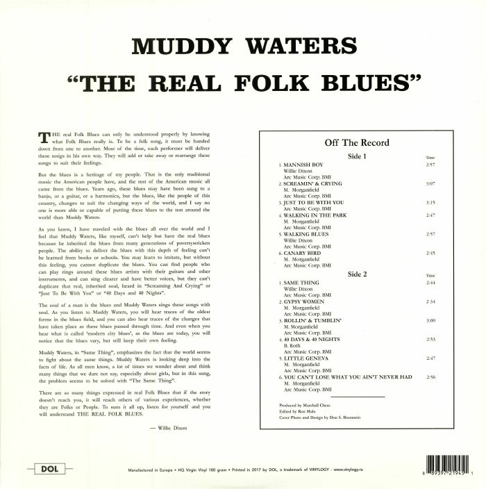 WATERS, Muddy - The Real Folk Blues: Deluxe Edition