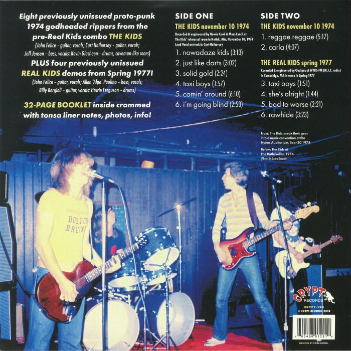 REAL KIDS, The - The Kids November 1974 Demos/The Real Kids 1977 Demos