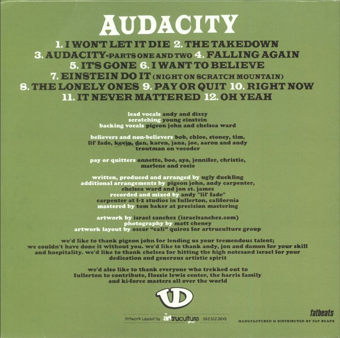 UGLY DUCKLING - Audacity: 10th Aniversary Edition