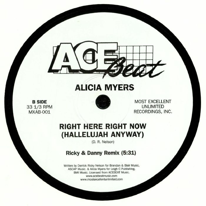 MYERS, Alicia - Right Here Right Now (Hallelujah Anyway)