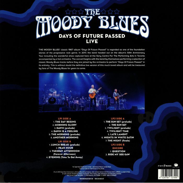the moody blues days of future passed live vinyl at juno records. Black Bedroom Furniture Sets. Home Design Ideas