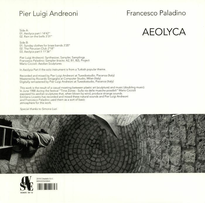 ANDREONI, Pier Luigi/FRANCESCO PALADINO - Aeolyca