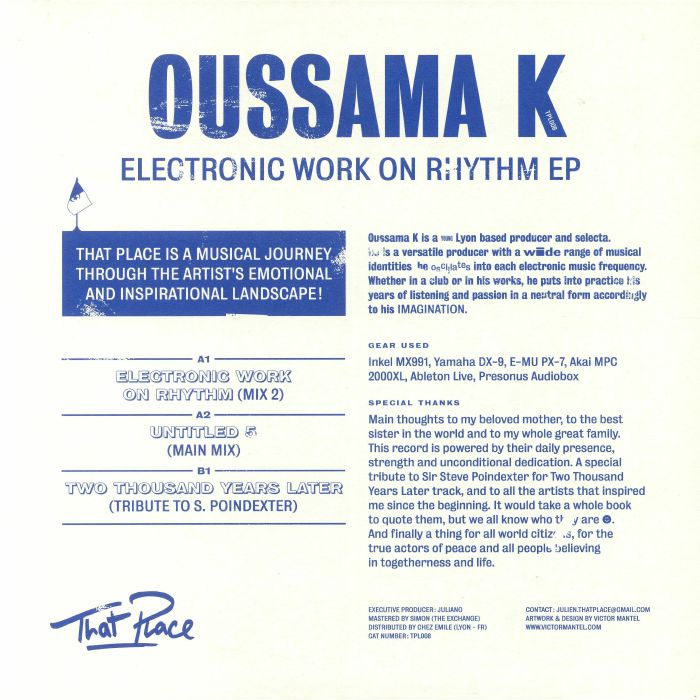 OUSSAMA K - Electronic Work On Rhythm EP