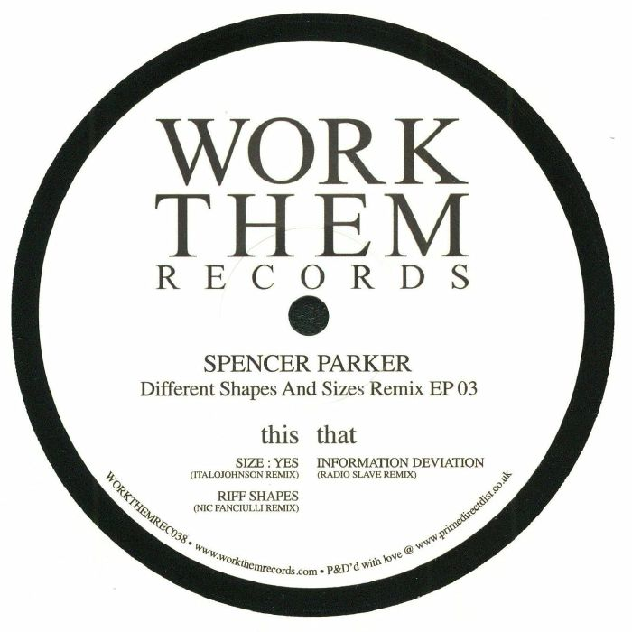 PARKER, Spencer - Different Shapes & Sizes Remix EP 03