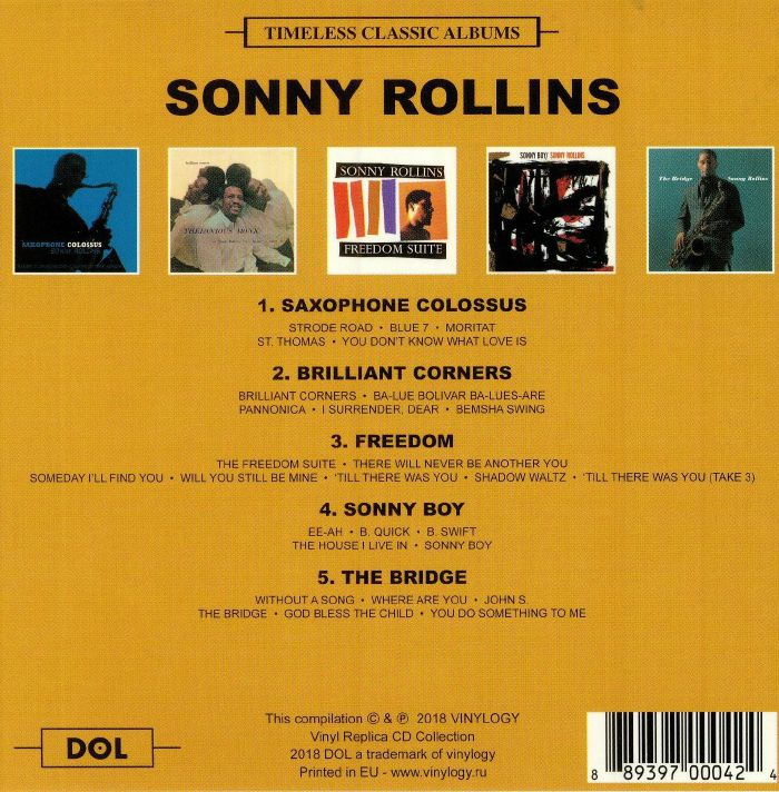 ROLLINS, Sonny - Timeless Classic Albums