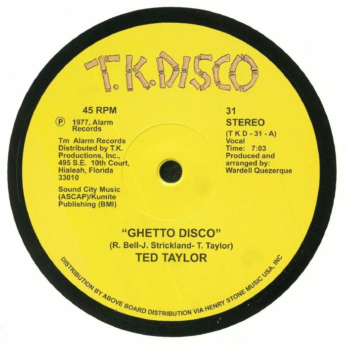 TAYLOR, Ted - Ghetto Disco (reissue)