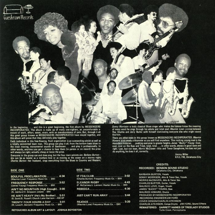 MESSENGERS INCORPORATED - Soulful Proclamation (reissue) (Record Store Day 2018)