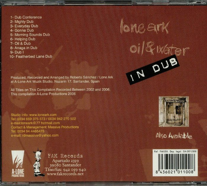 LONEARK - Oil & Water In Dub