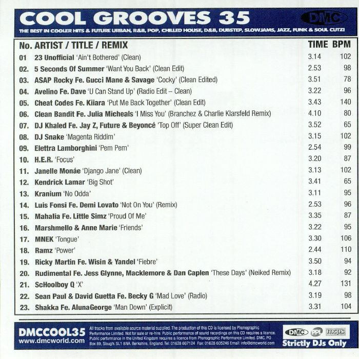 VARIOUS - Cool Grooves 35: The Best In Future Urban R&B Slowjams Funk & Soul Cutz! (Strictly DJ Only)
