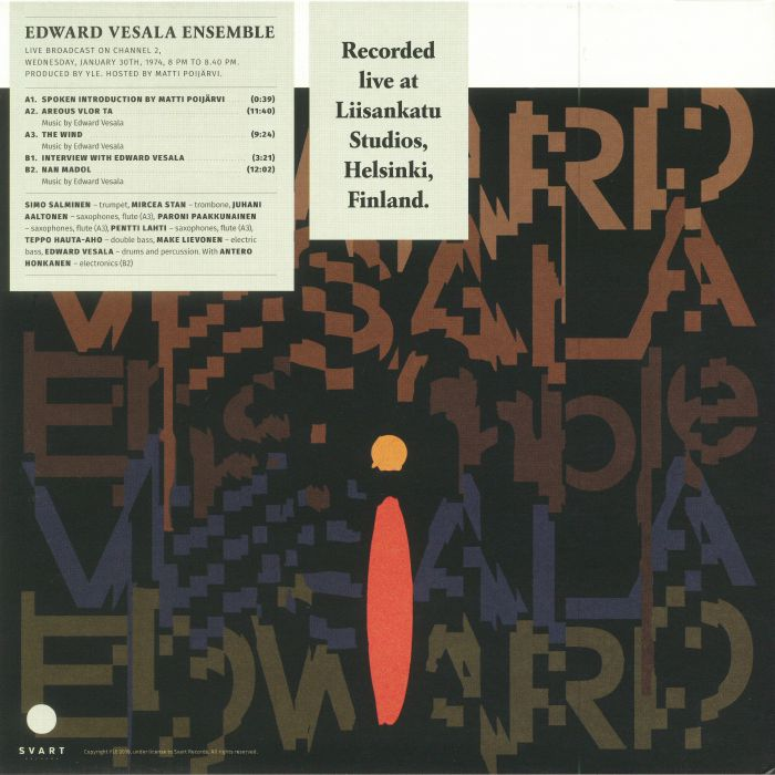 EDWARD VESALA ENSEMBLE - Jazz Liisa 18