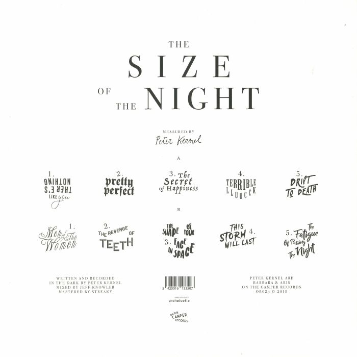 PETER KERNEL - The Size Of The Night