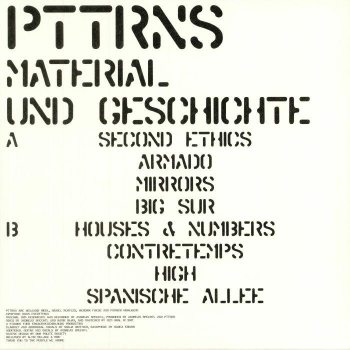 PTTRNS - Material Und Geschichte