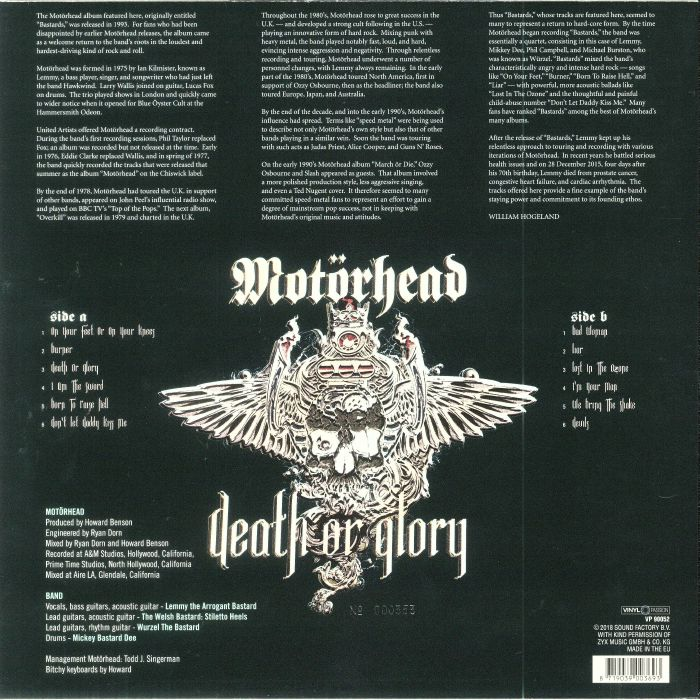 MOTORHEAD - Death Or Glory (Record Store Day 2018)