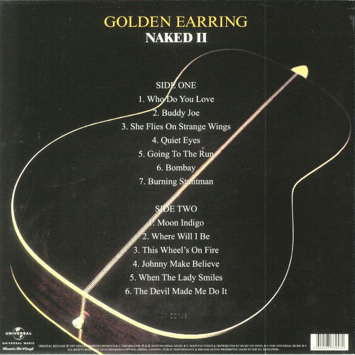 GOLDEN EARRING - Naked II (Record Store Day 2018)