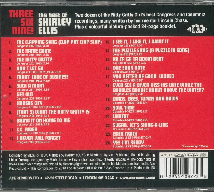 ELLIS, Shirley - Three Six Nine! The Best Of Shirley Ellis