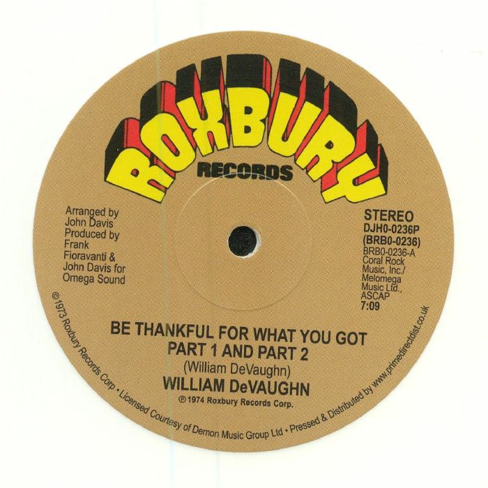 DEVAUGHN, William - Be Thankful For What You Got: 45th Anniversary Edition (remastered) (Record Store Day 2018)