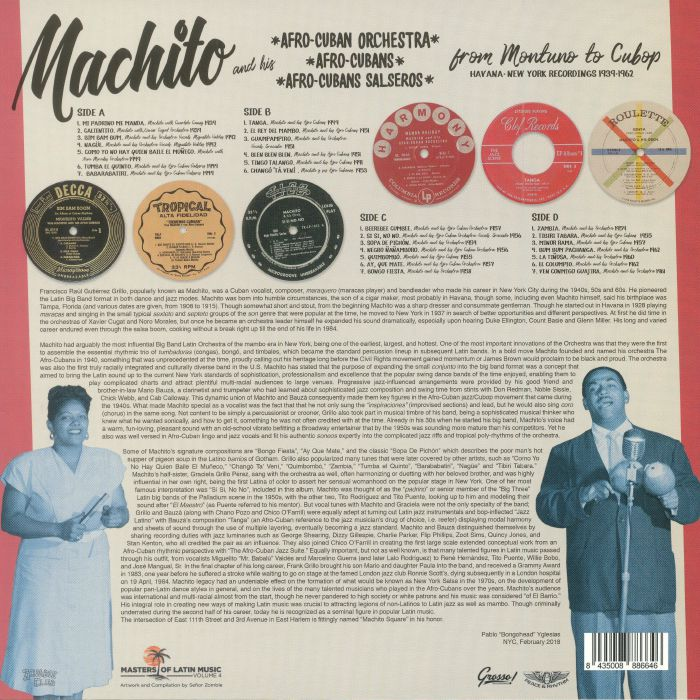 MACHITO - Machito From Montuno To Cubop: Havana-New York Recordings 1939-1962 (Record Store Day 2018)