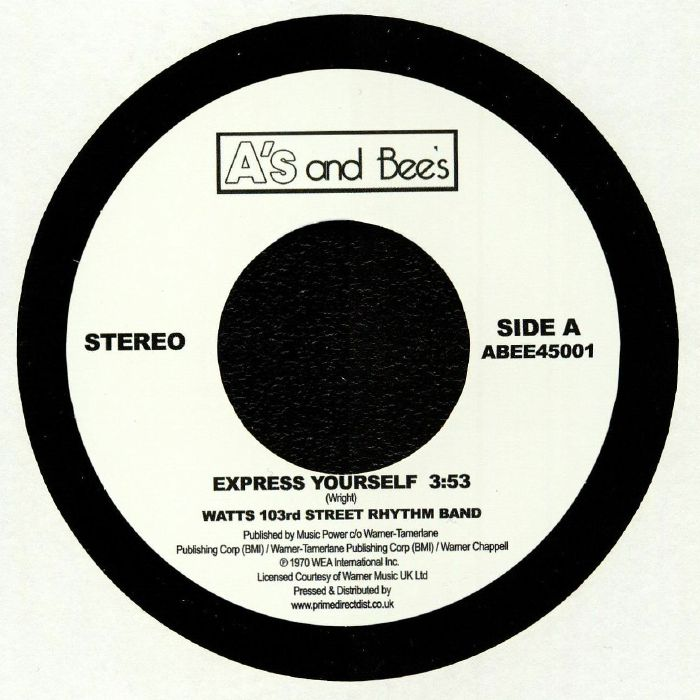 WATTS 103RD ST RHYTHM BAND/THE METERS - Express Yourself (remastered) (Record Store Day 2018)