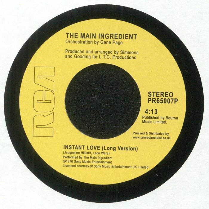 MAIN INGREDIENT, The - Work To Do (Record Store Day 2018)