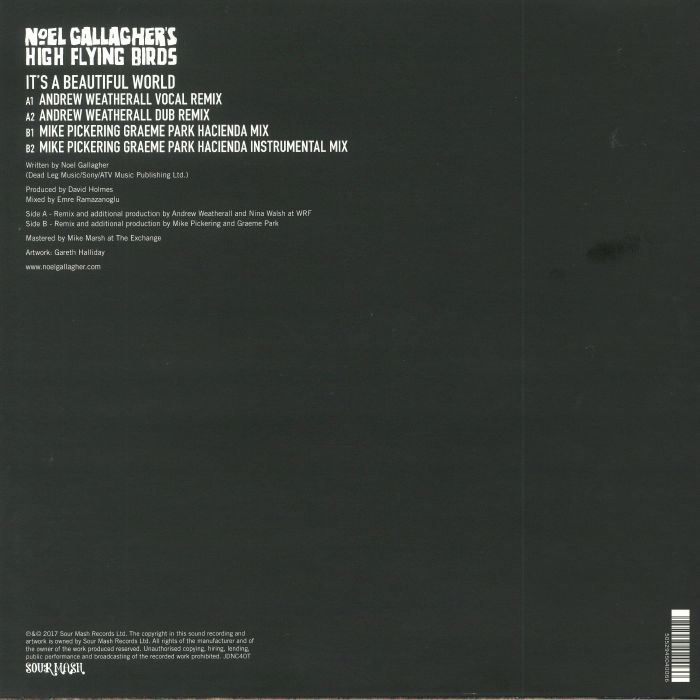 NOEL GALLAGHER'S HIGH FLYING BIRDS - It's A Beautiful World (remixes) (Record Store Day 2018)