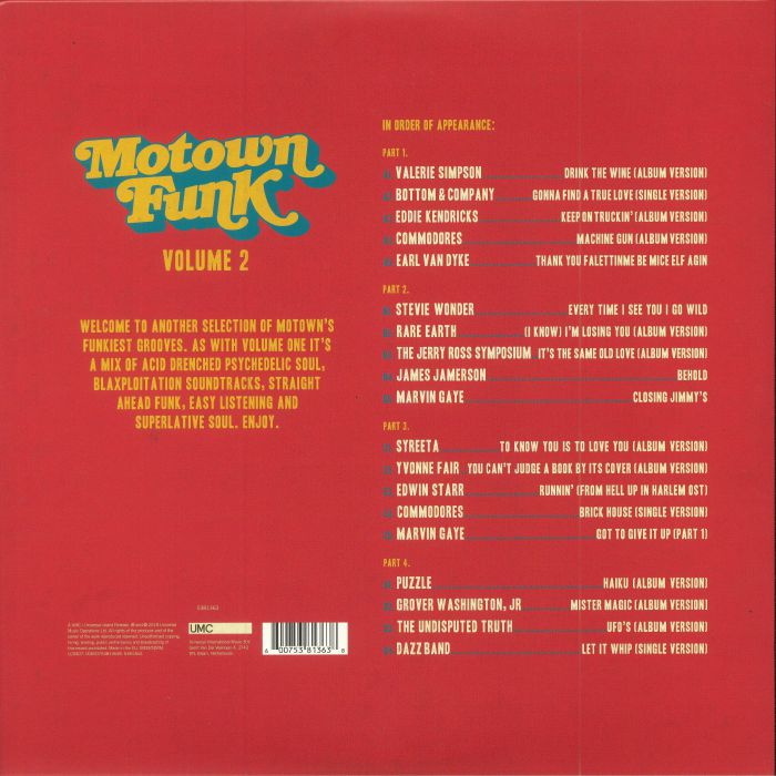 VARIOUS - Motown Funk Volume 2 (Record Store Day 2018)