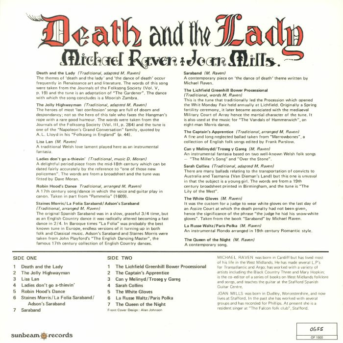 RAVEN, Michael/JOAN MILLS - Death & The Lady (Record Store Day 2018)