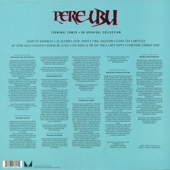 Pere Ubu Terminal Tower An Archival Collection Record