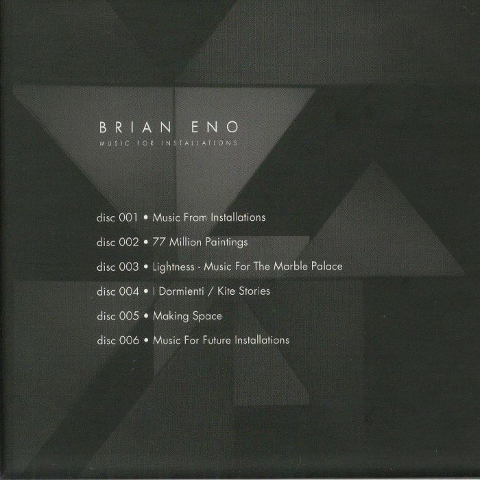 ENO, Brian - Music For Installations