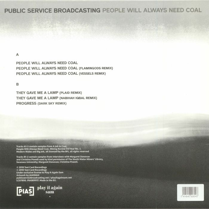 PUBLIC SERVICE BROADCASTING People Will Always Need Coal