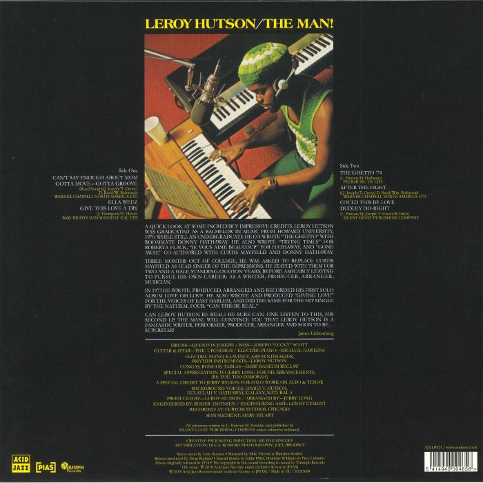 HUTSON, Leroy - The Man! (remastered)