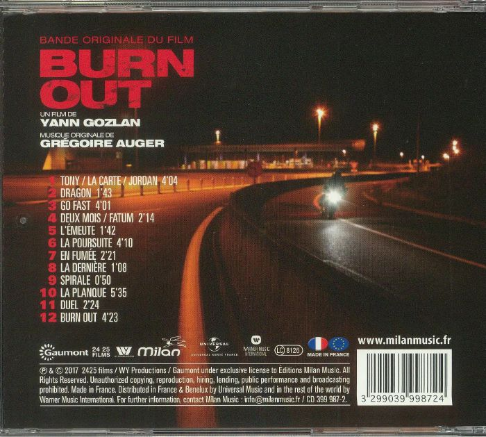AUGER, Gregoire - Burn Out (Soundtrack)