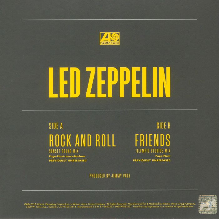 LED ZEPPELIN - Rock & Roll (Record Store Day 2018)