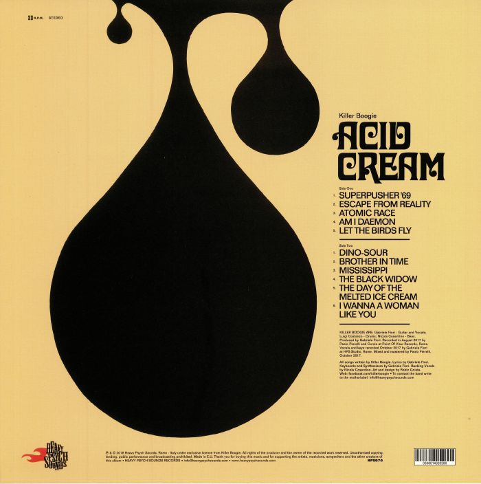 KILLER BOOGIE - Acid Cream