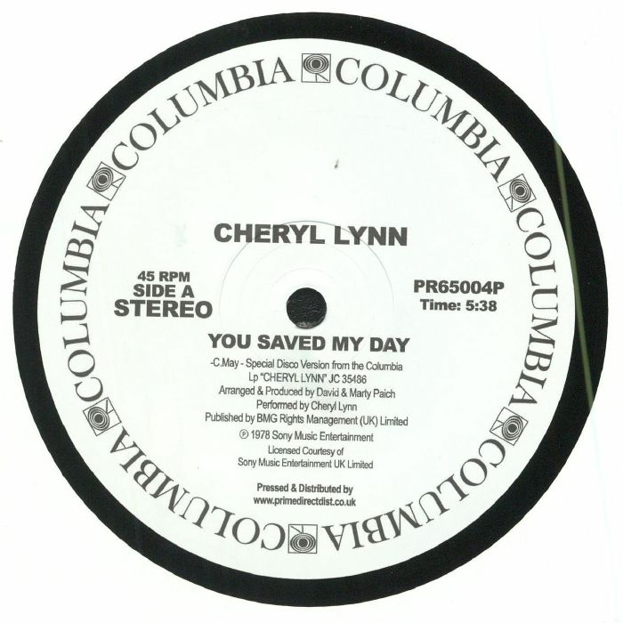 LYNN, Cheryl - You Saved My Day (Record Store Day 2018)