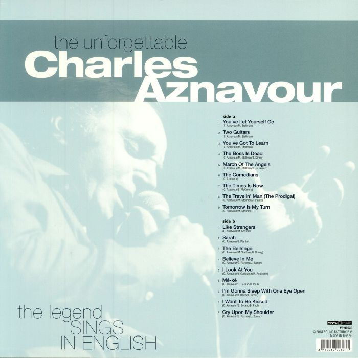 AZNAVOUR, Charles - The Unforgettable Charles Aznavour: The Legend Sings In English