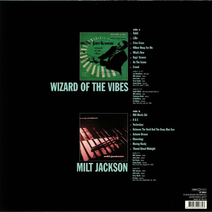 JACKSON, Milt - Wizard Of The Vibes/Milt Jackson