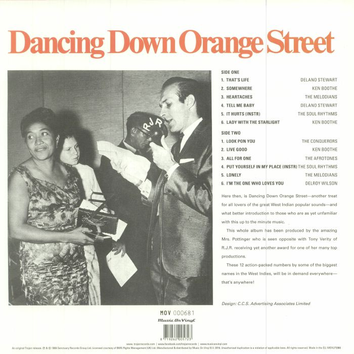 VARIOUS - Dancing Down Orange Street (reissue)